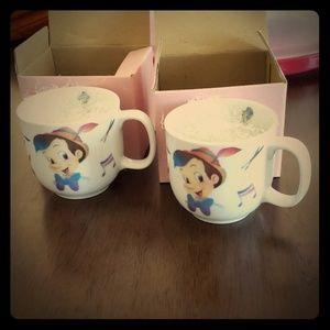 NWT Noritake Disney Pinocchio tea cups